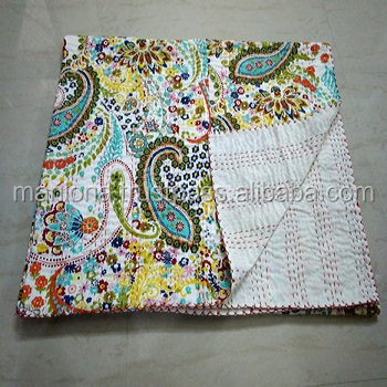 New products excellent quality Beautiful Cotton Vintage Kantha Quilt