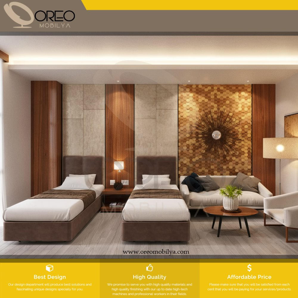Accor Hotel Standard Attractive Simple Single Hotel Bedroom Good Quality Factory Price Resort Hotel Furniture