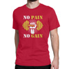 [Custom Designed] Gym Quotes - No Pain No Gain - Men's Red T-shirt