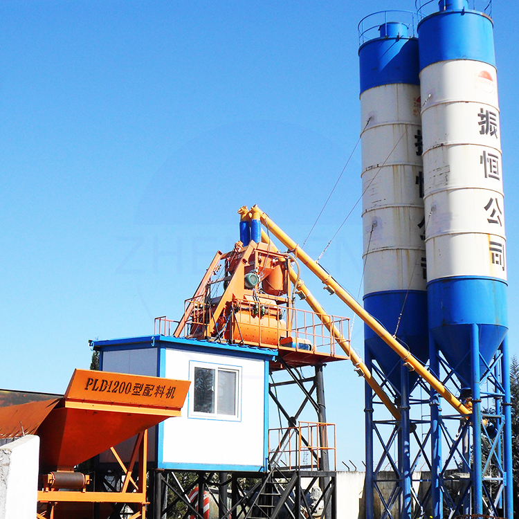 Easy Operation HZS25 Skip Hoist RMC Plant Accurate Weighing Concrete Batching Plant Supplier