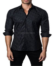 Wholesale mens stylish casual trim slim Fit dress shirts