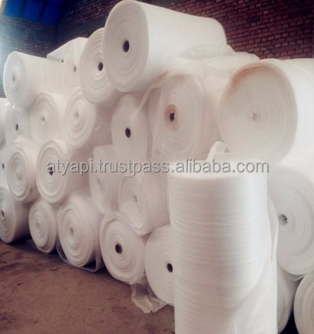 Factory wholesale custom white EPE foam sheet roll used in fruit packaging industry / Polyethylene foam