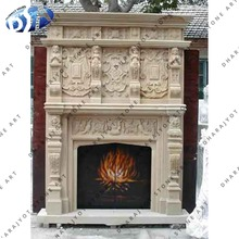antique cream marble fireplace mental