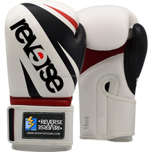 Custom Made Genuine Leather Competition Boxing Gloves with Logo, Reverse Boxing Gloves