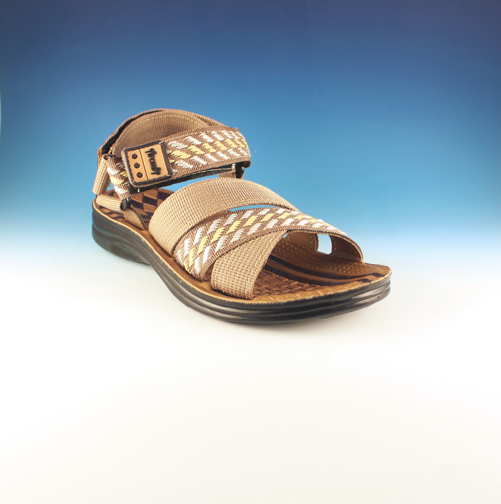 high quality outdoor pu casual flat kids web sandals