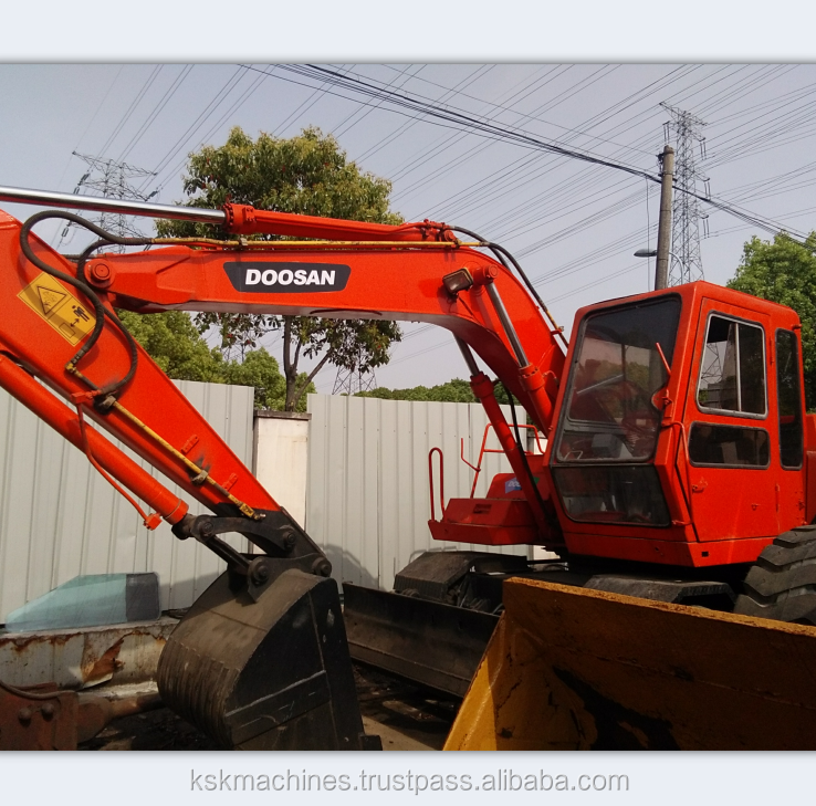 Used doosan DH140WD excavator for sale/Cheap Price Doosan Daewoo Wheel Excavator Dx140w For Sale