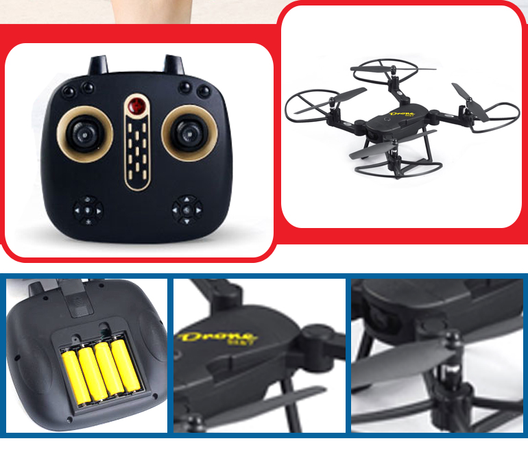 Super cool battery power 2.4 G handheld folding rc quadcopter drone with camera
