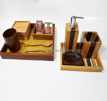 wooden Hospitality Amenities for hotel, restourant, cafe, and home