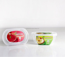Oval Ice Cream Container 400 ml PP Plastic High End Tamper Evident packaging Food - Checmical - Promotion
