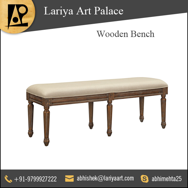 Highly Durable Mango Wood Made Bench at Low Cost