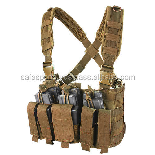 MOLLE Chest Rig COYOTE BROWN Fit 8 AR-15 Rifle & 6 Pistol Magazines