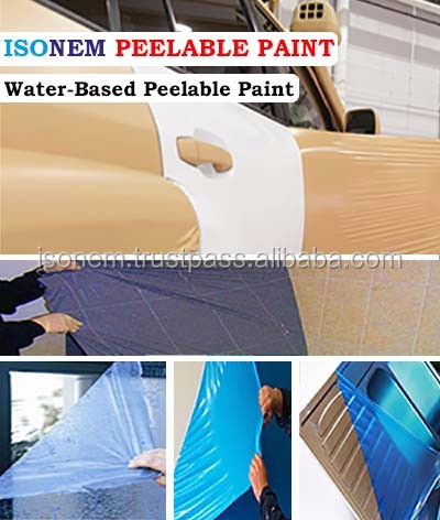 ISONEM PEELABLE PAINT, WATER BASED PEELABLE SURFACE PROTECTION SYSTEM