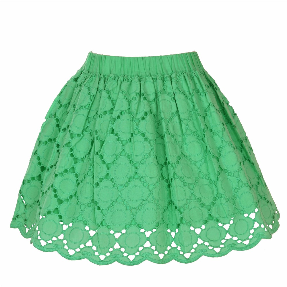 crayonflakes kids wear for girls green anglaise skirt short skirt