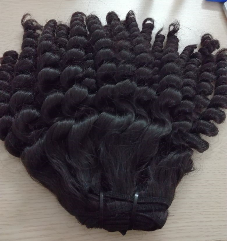 250 grams of kinky curly hair extension, 18 inch Vietnamese hair, cheap kinky hair weave pictures