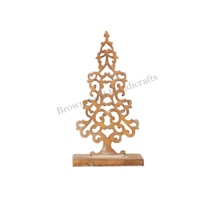Decoration Supplies Handmade Wood Carving Christmas Tree Ornaments