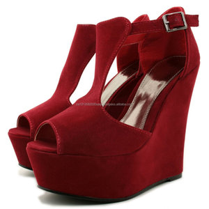 Leatest wedge heels sandals shoes
