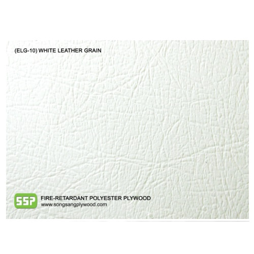 Fire-Retardant Decorative Polyester Plywood - White Leather Grain