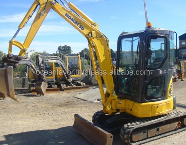 Used Komatsu PC30 Mini Excavator, 3 ton Mini Excavator with rubber tracks, also pc35 for sale