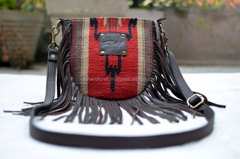 COTTON CANVAS MESSENGER BAG BANJARA BAG HIPPIE BOHO BAG