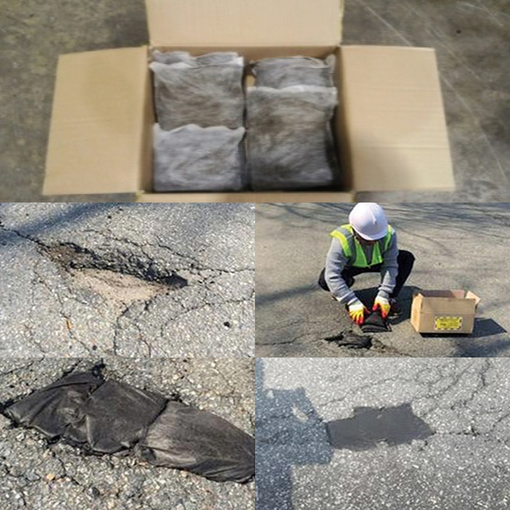 HANSOO Cold Asphalt Patch 20KG Speed-Ro High Quality Low Price Road Repair Material Pavement Damage Porthole Crack Without VOCs