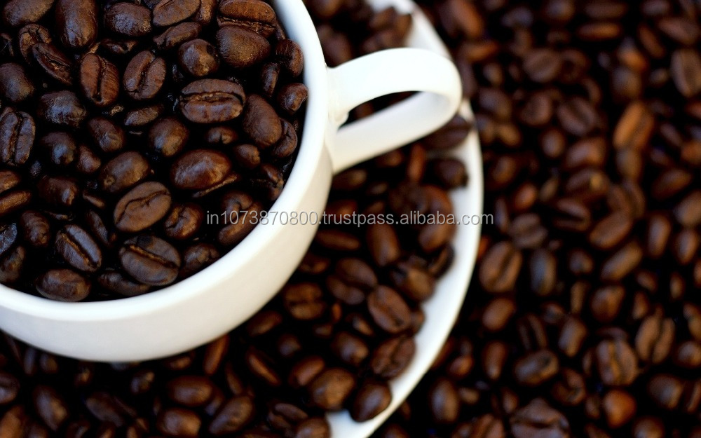 Unwashed arabica coffee With high quality