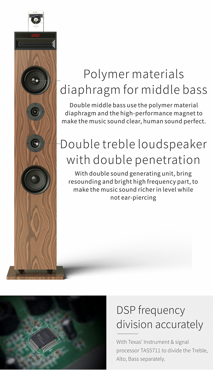 Tower Speaker with karaoke function