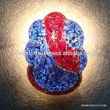 GANESHA WALL LAMPS ,MOSAIC WALL LAMP ANTIQUE