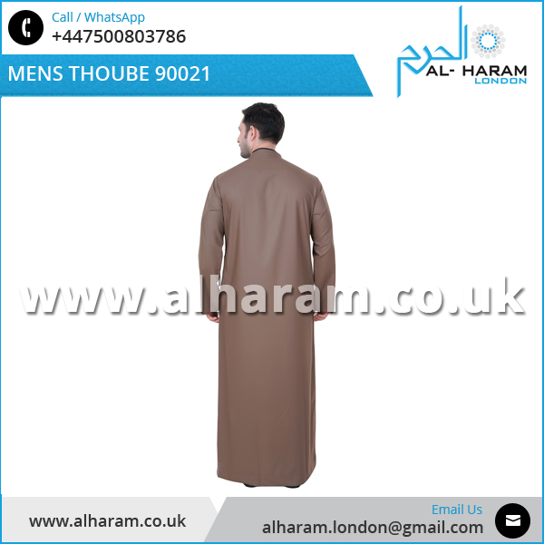 Professional Factory Wholesale Long Sleeve Dubai Muslim Thobe for Men