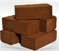 Coconut coir peat bricks in India