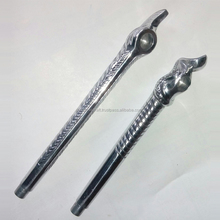 Aluminium made with silver plating smoking pipes pair