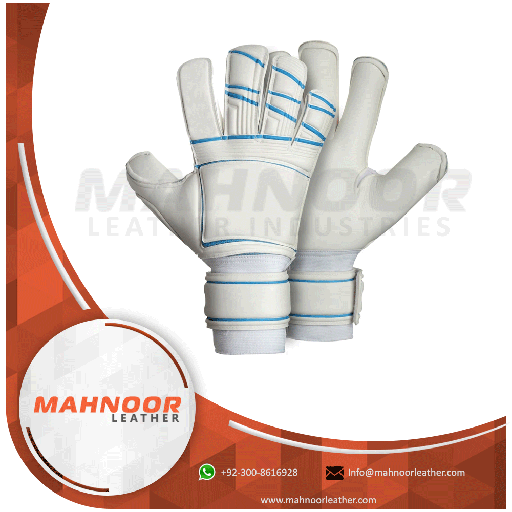 White Color Goal Keeping Gloves
