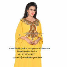 Arabic dubai Pakistani abaya kaftan style Embroidery moroccan kaftan traditional Turkey robe