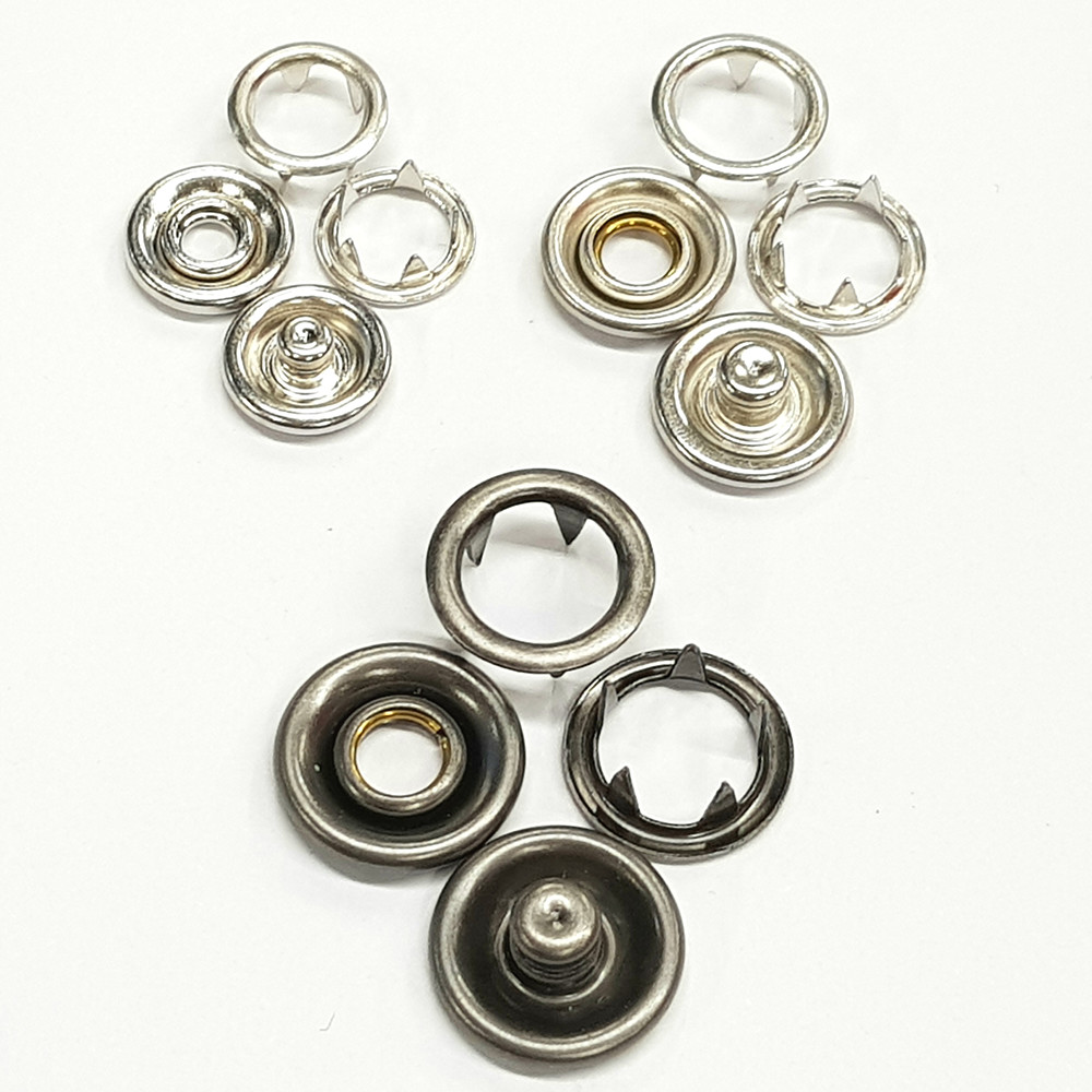 Decorative Prong Ring Snap Button