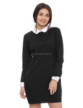 Solid-Women- Dress- 100% cotton Full sleeve
