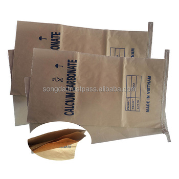 Coconut packaging kraft paper plastic 3 ply big size paper bag
