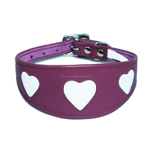 Customized Hot Sales Italian Designer Leather Adjustable Dog Collars