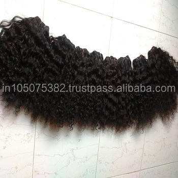 unprocessed Indian curly hair from India for factory prices