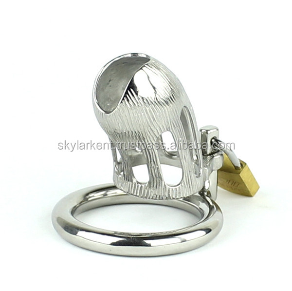 2016 Latest Design SMALL MALE Chastity Devices Bondage Cock Cage BDSM Sex Toys Stainless Steel Chastity Belts Peins locking devi