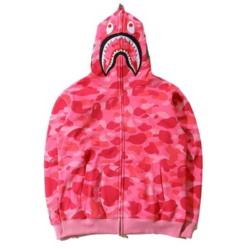 Custom Pink Color OEM Full Sublimated Men Hoodies Hot Bathing Full Zipper Hoodies Men's Sweatshirt