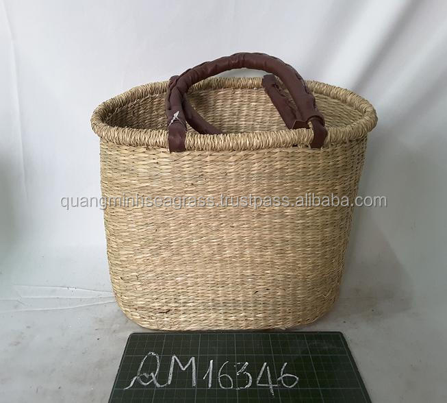 Simili handles seagrass beach bag competitive price wicker shopping basket good price straw women tote bag