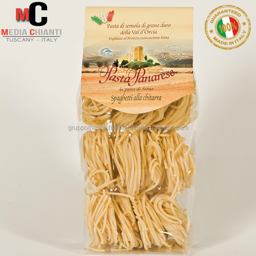 Premium Quality Italian SPAGHETTI CHITARRA Durum wheat pasta, bronze died, slow dried