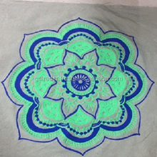 Indian Style Chain Stitch Meditation 100% Cotton Cushion Cover Quality Customized Accepted designer seat cushion