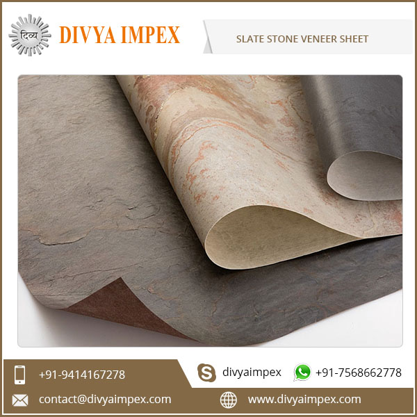 Flexible Slate Stone Veneer Sheets