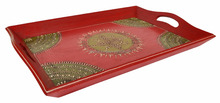 Designer Serving Hand Painted Wooden Ethnic Indian Wedding Decoration Tray