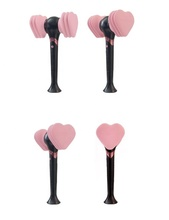 CORÉIA K-POP MÚSICA ROSA PRETO OFICIAL LIGHT STICK (BTS, PRETO ROSA, GOT7, BIGBANG, K-POP)