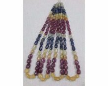 natural ruby sapphire stone tumbled stone beads