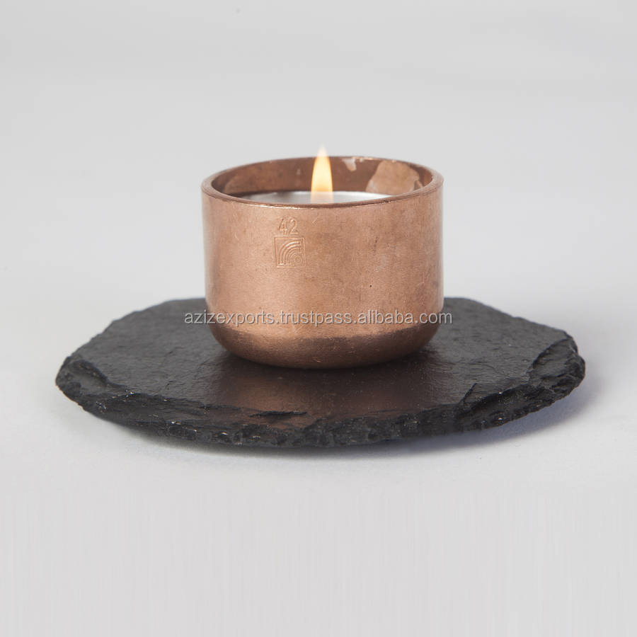 Copper Candle cup container or candle jar for Candle Holding