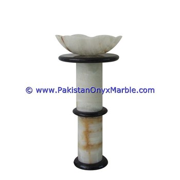 FACTORY PRICE ONYX PEDESTALS SINKS BASINS WHITE ONYX