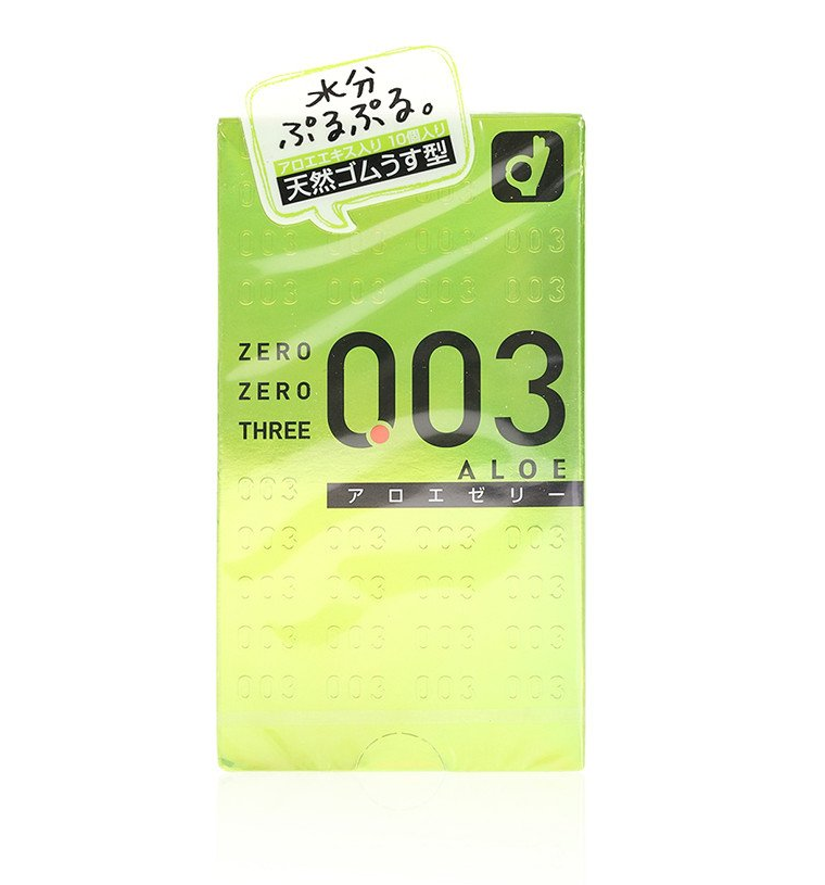 OKAMOTO 003 ALOE 0.03mm Latex Condoms 10 pcs