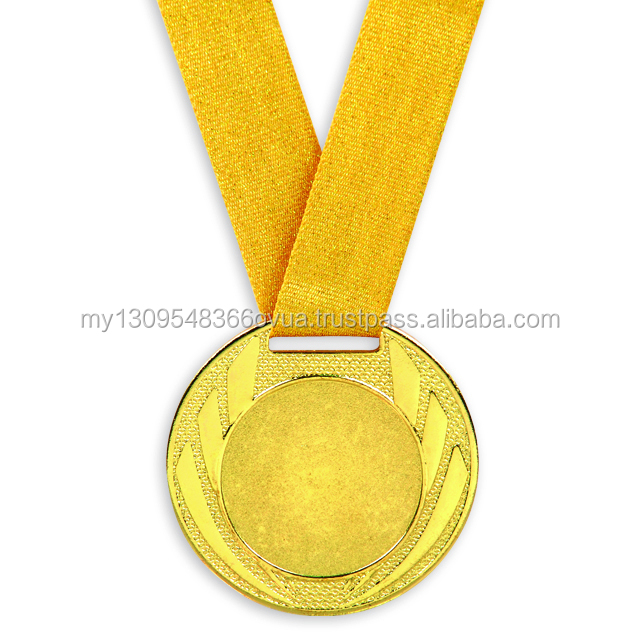 Metal Medal with Glitter Ribbon